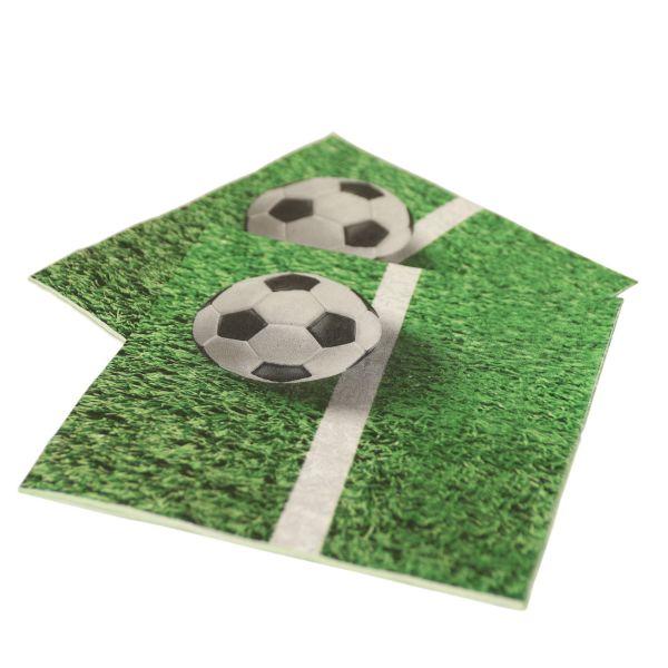 Servietten Fußballrasen, grün-weiß