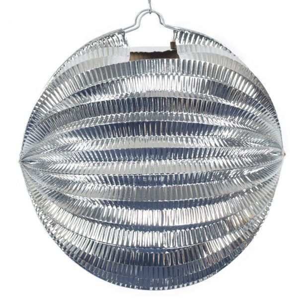 Lampion metallic, silber