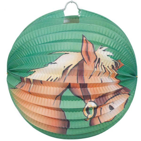 Lampion Pferd, bunt