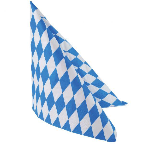 Servietten Bayern Oktoberfest, weiß-blau