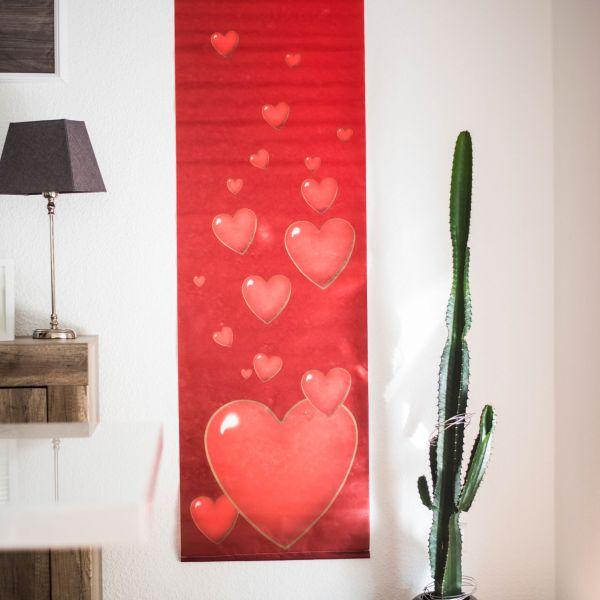 Banner Herzen wetterfest, rot
