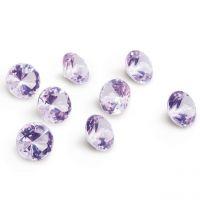 Deko-Diamanten, Ø 3cm, flieder-klar