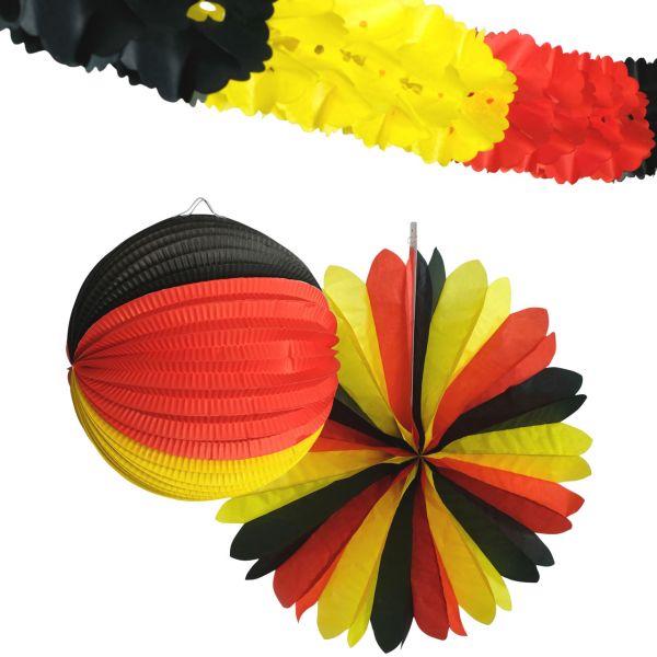 Deko-Set Deutschland, schwarz-rot-gold