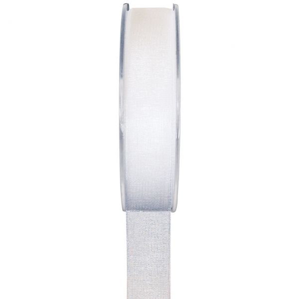 Organzaband 7 mm, weiß