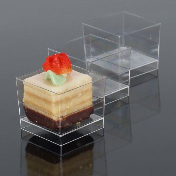 Fingerfood Buffet-Minischale, eckig, transparent