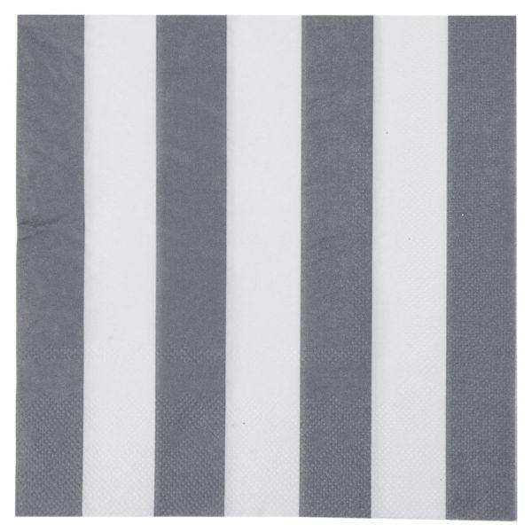 Servietten weiße Streifen, grau