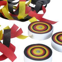 Konfetti Frisbee Deutschland,, schwarz-rot-gold