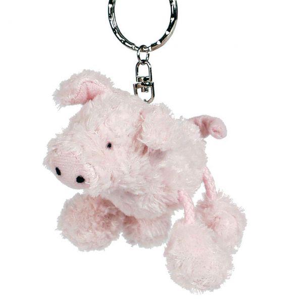 Stofftier Anhänger Schwein, rosa