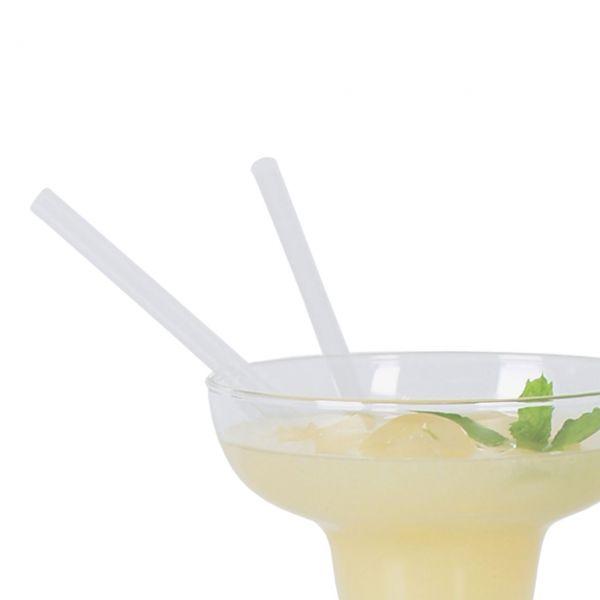 Jumbo Cocktail-Strohhalme, kurz, klar