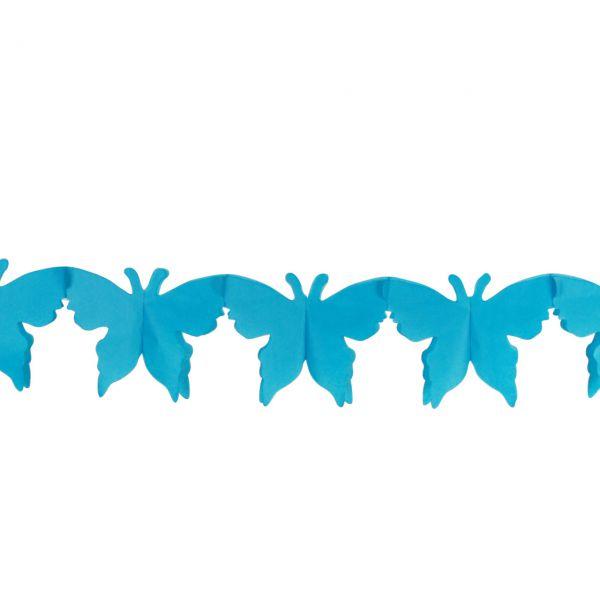 Girlande Schmetterling, blau