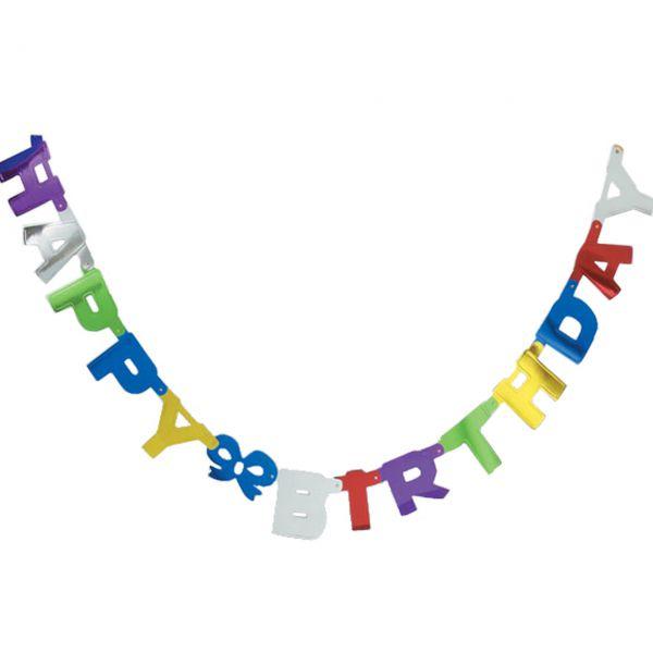 Buchstaben Girlande Happy Birthday, bunt