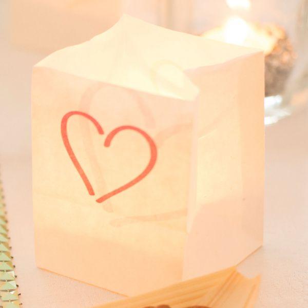 Lichtertüten Herz, pink