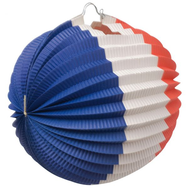 Lampion, weiß-blau-rot