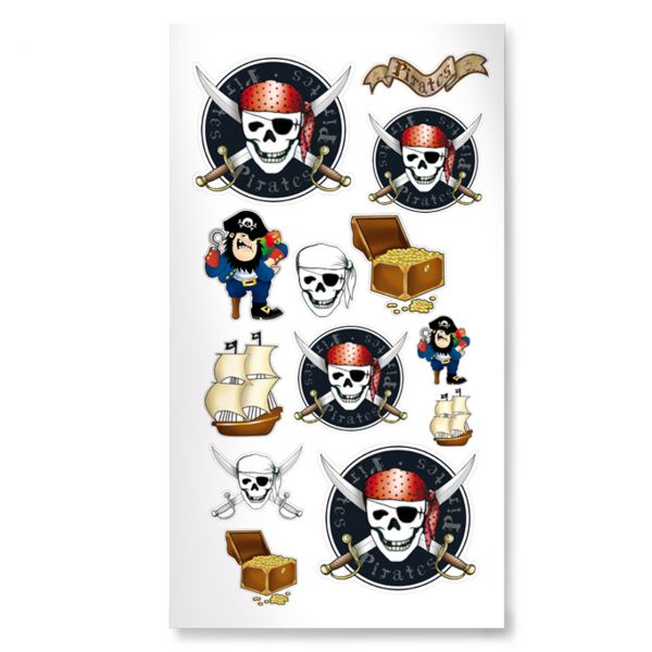 Aufkleber Piraten, bunt