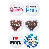 Oktoberfest-Buttons, 6 Motive