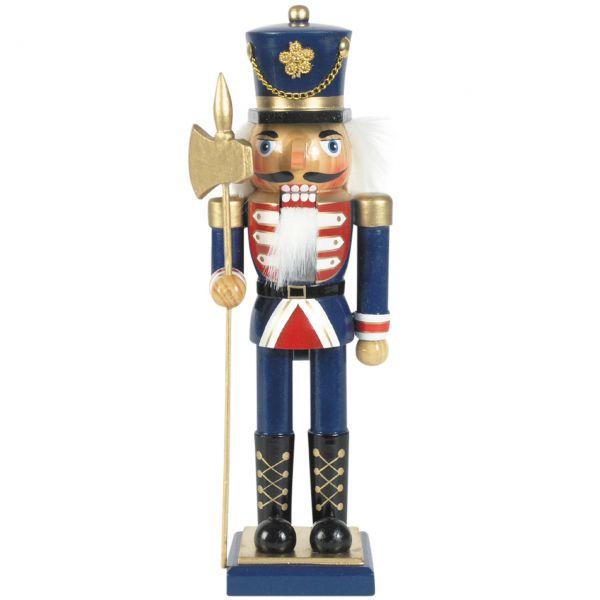 Nussknacker Soldat 25cm, blau