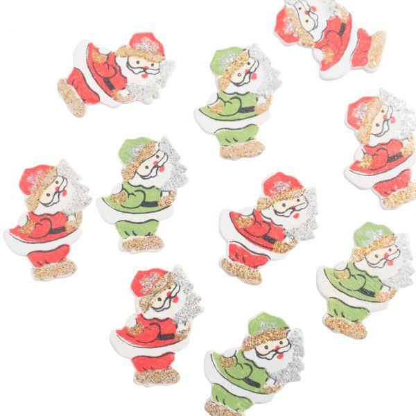 Streudeko Tischkonfetti Weihnachtsmann, Holz