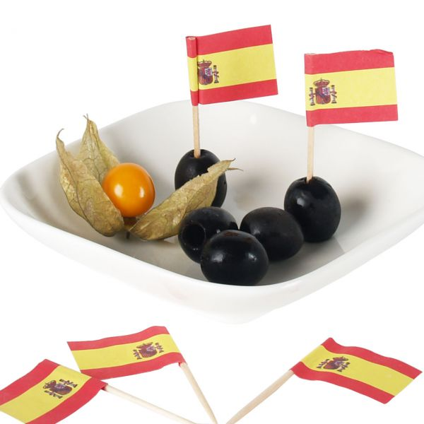 Party-Picker Flagge Spanien, rot-gelb