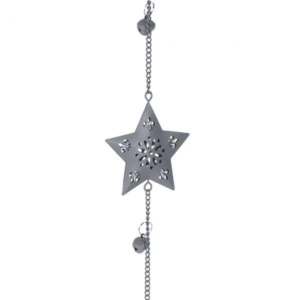 Metall-Girlande Sterne, antikgrau