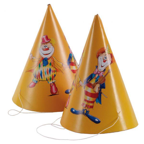 Papierhüte Clown, bunt