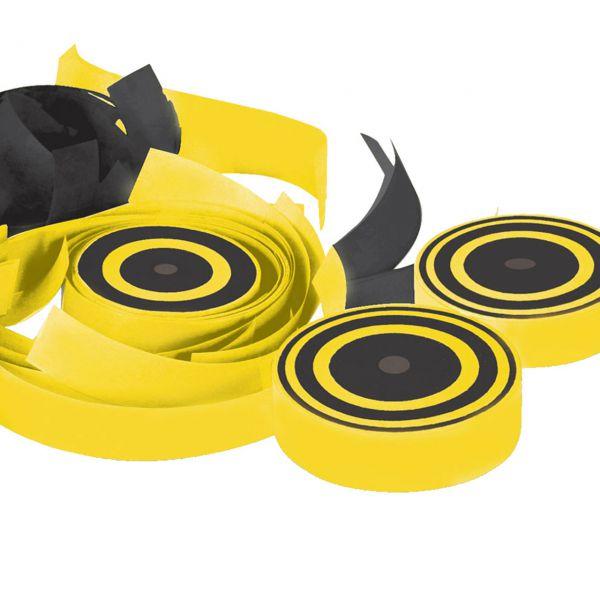 Konfetti Frisbee, schwarz-gelb
