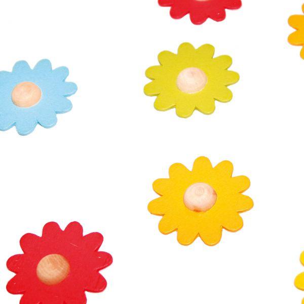 Streudeko Holz-Konfetti Flower Power, bunt