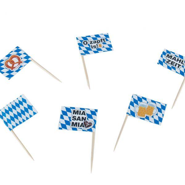 Flaggenpicker Oktoberfest-Gaudi, weiß-blau