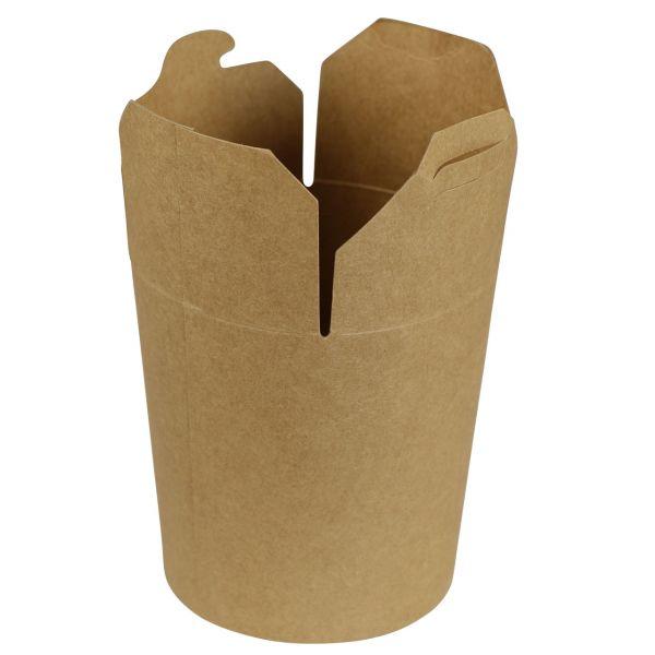 Kraftpapier Snack Box 15 x Ø 8,5 cm, 470 ml, natur