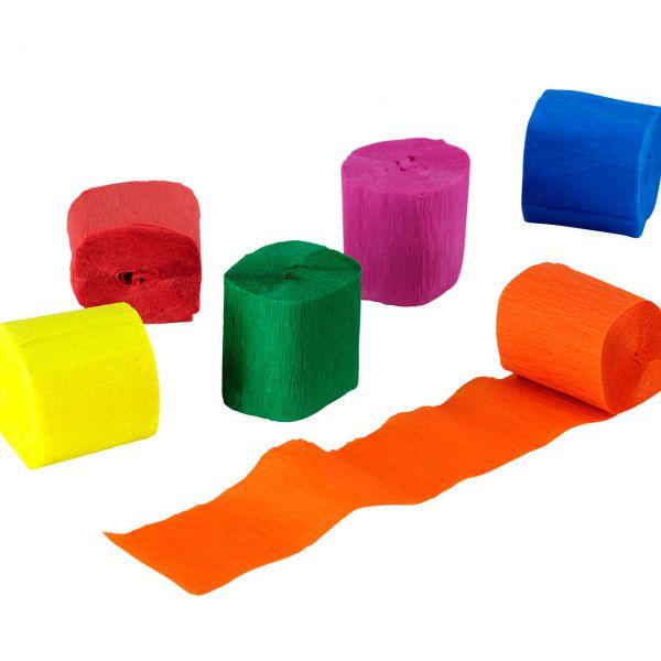 Kreppband, bunt, 6 Farben gemischt