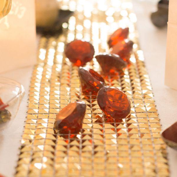 Deko-Diamanten, Ø 3cm, braun-klar