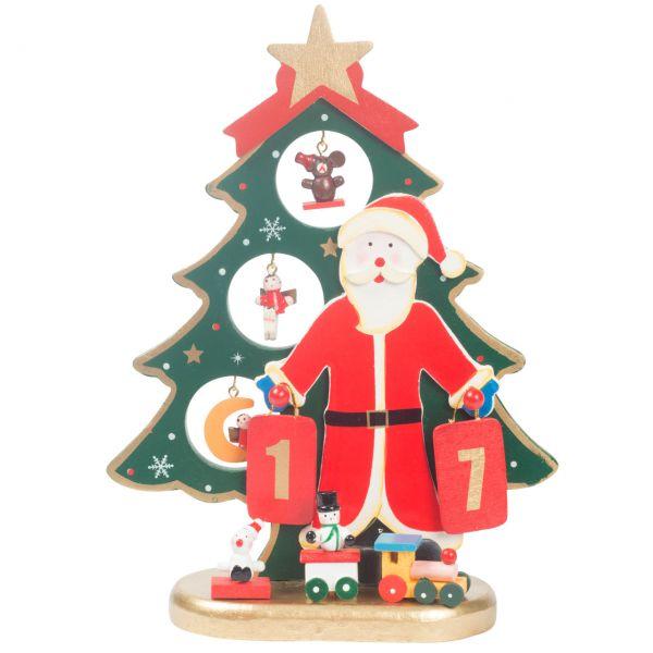 Deko-Christbaum Santa Claus Holz