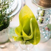 Einweg Serviette Baumwolle, Classic hellgrün