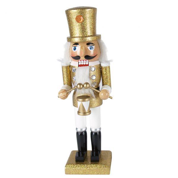 Nussknacker Trommler 25cm, gold