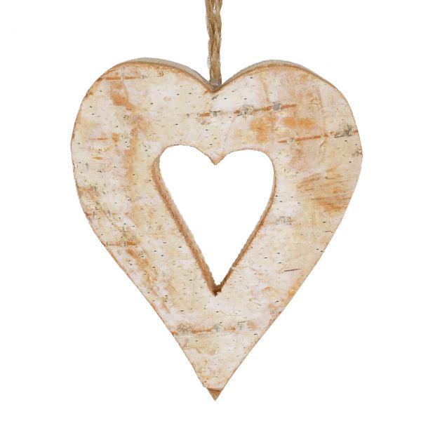 Anhänger Holz, Herz