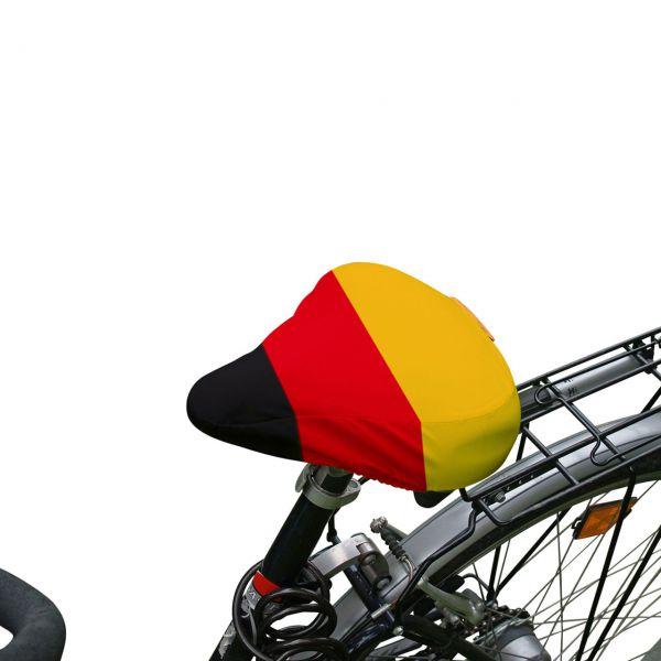 Fahrradsattel-Bezug Deutschland, schwarz-rot-gold