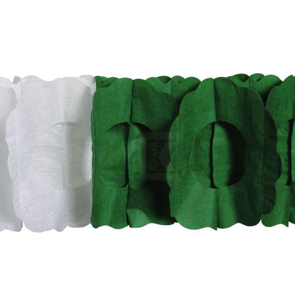Maxi Girlande oval, 10m, grün-weiß