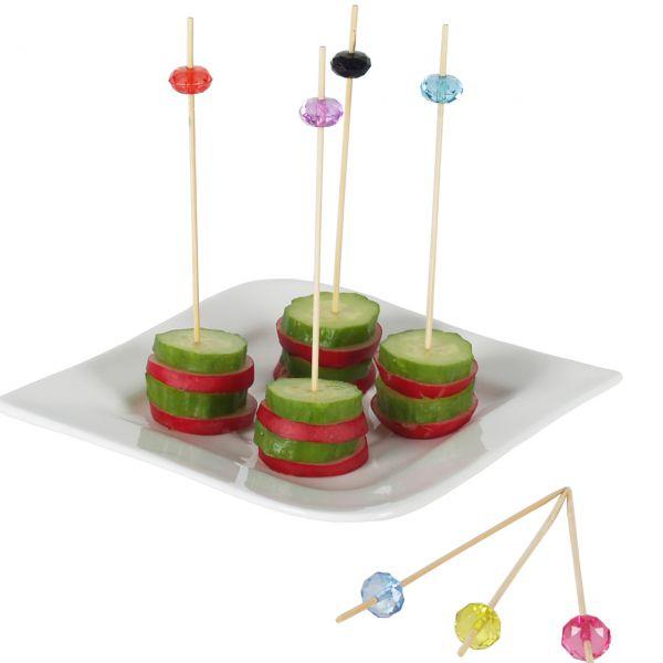 Bambus Party-Picker Jewel, bunt transparent