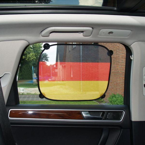 Auto-Sonnenblende Deutschland, wetterfest, schwarz-rot-gold