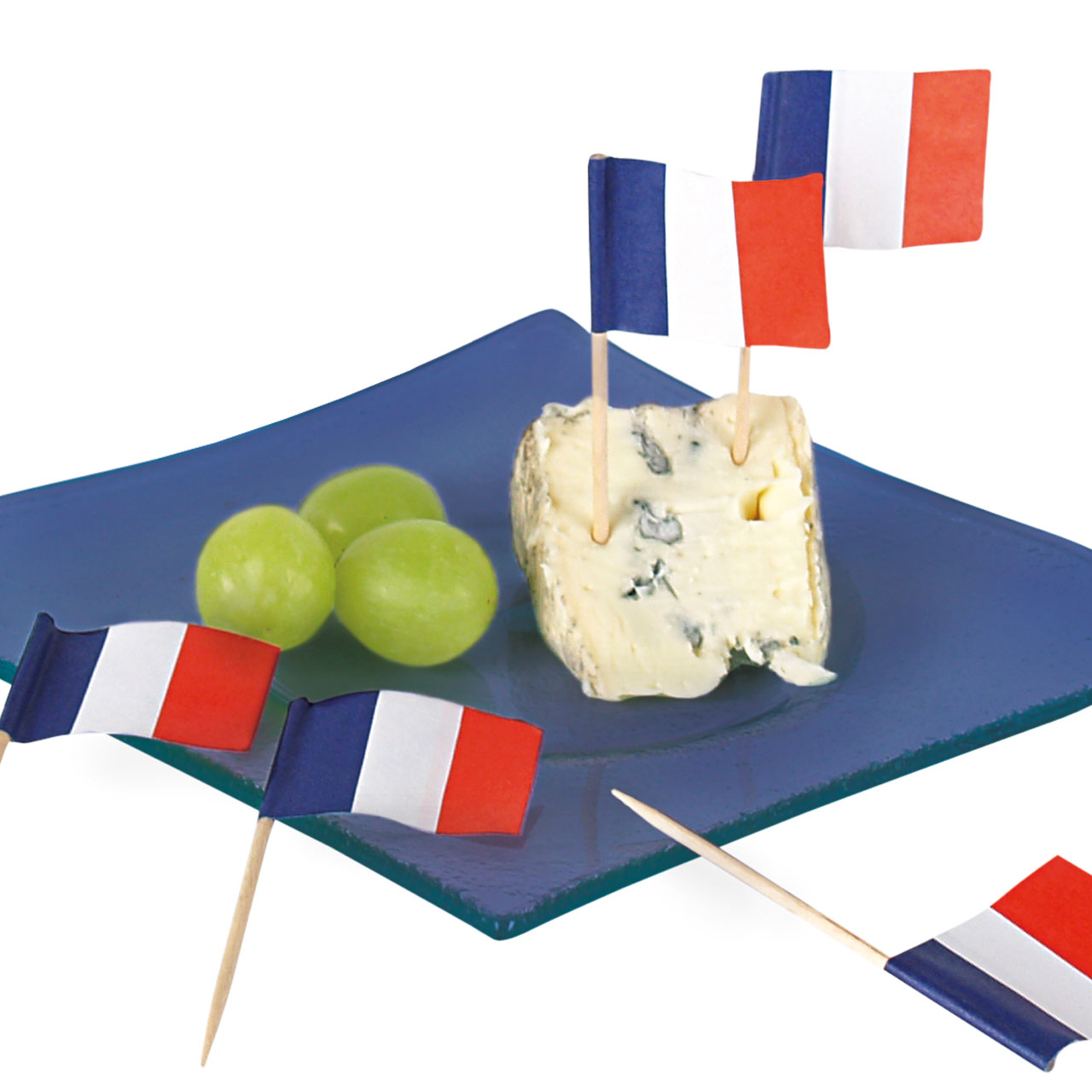 Party-Picker Flagge Frankreich, Weiß-blau-rot, Le
