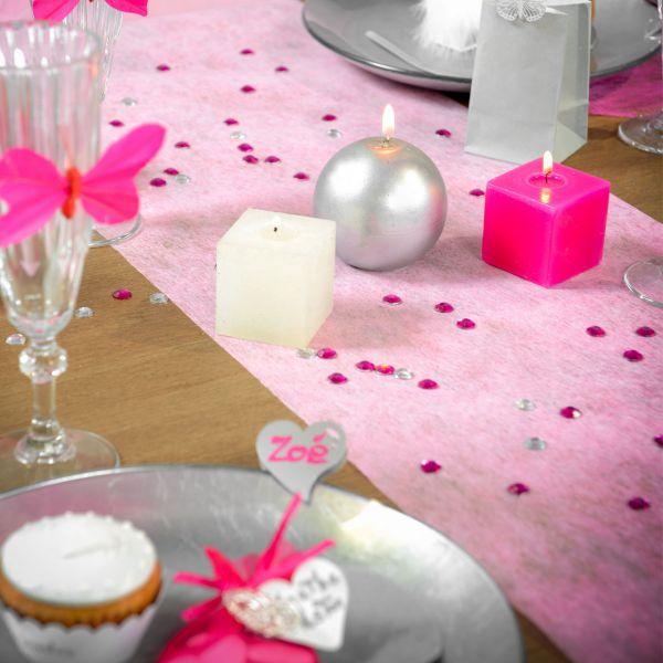 Tischläufer B: 30cm x 10m, rosa