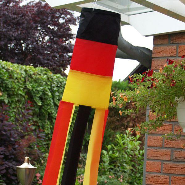 Windsack Deutschland, wetterfest, schwarz-rot-gold