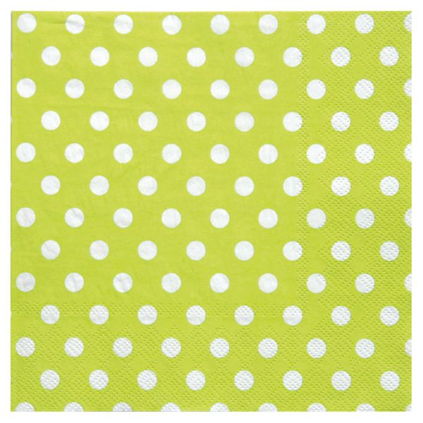 Servietten weiße Punkte, grün