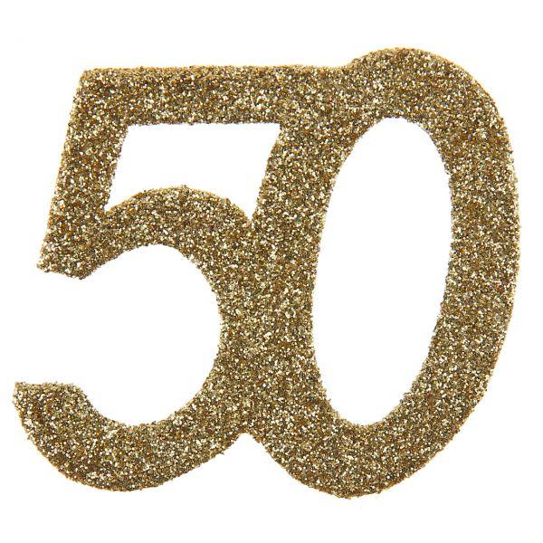 Großes Tischkonfetti 50, H: 6cm, gold