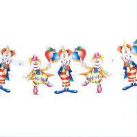 Figuren-Girlande Clown, bunt