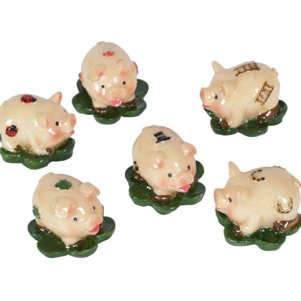 Glücksbringer Glücksschwein auf Klee