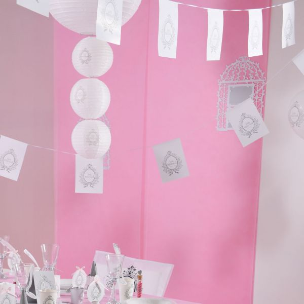 Partyhimmel, B: 80cm x 12m, rosa