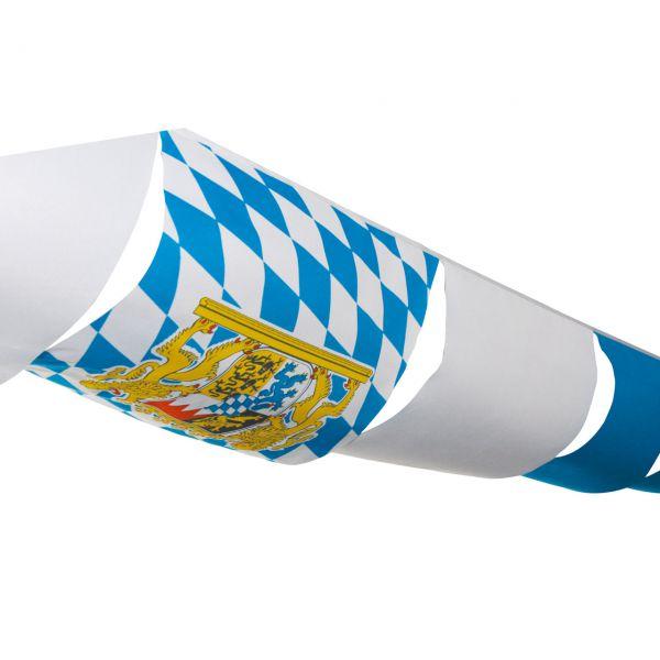 Maxi- Partyhimmel Bayern wetterfest, 10m, weiß-blau