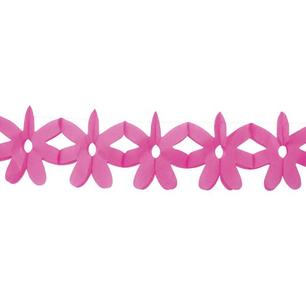 Girlande Blume, pink
