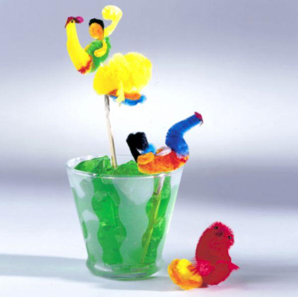 Party-Picker Chenille Vögel, bunt