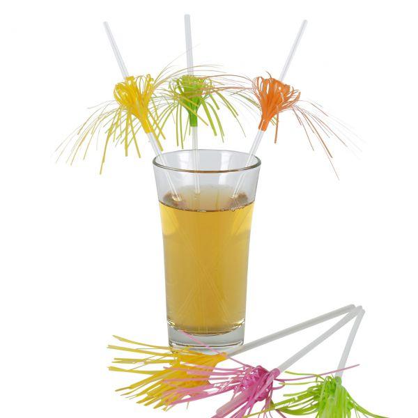 Knick-Strohhalme Blume & Palme, neon
